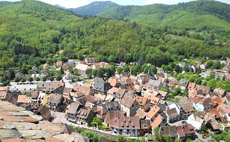 Kaysersberg - vue du Chateau