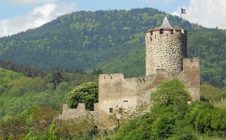 Chateau de Kaysersberg en Alsace
