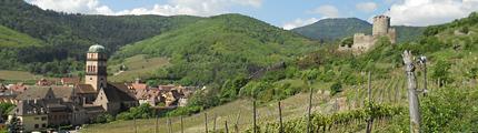 Kaysersberg - vallee de la Weiss - Eglise et Chateau de Kaysersberg